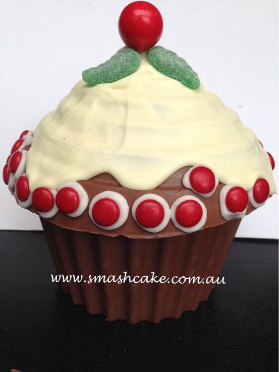 Giant Cupcake Christmas Pudding