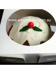 Dome Christmas Pudding Smashcake