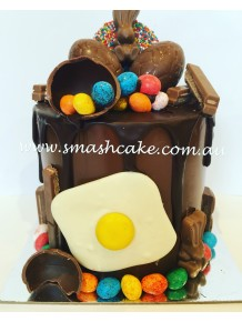 Splattered Egg Drip Smashcake
